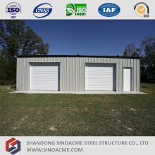 Garage de structure en acier léger préfabriqué