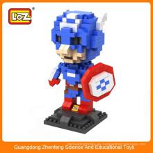 LOZ iluminar juguetes de ladrillo, plástico 3d cubo edificio