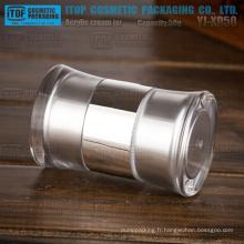 YJ-XD50 50g couleur personnalisable innovante double chambre 50g fin double pot acrylique