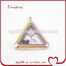 fashion triangle shape locket pendant