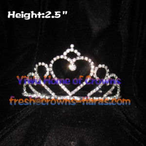 Heart Shaped Pageant Tiaras and Crowns