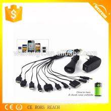 Chargeur USB promotionnel de haute qualité pour maison et voiture WF-115