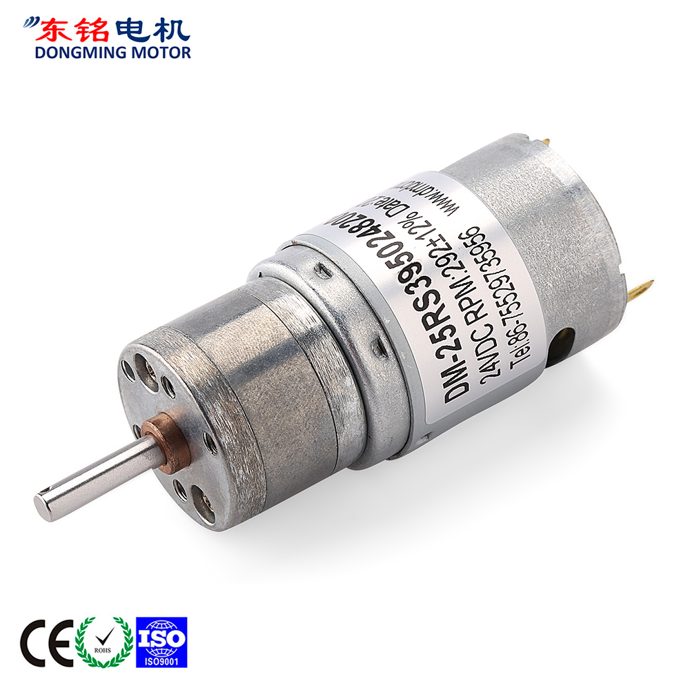 dc motor and gearbox
