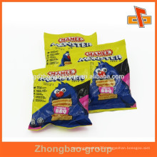 Food grade plastic heat seal foil bags for snack packaging