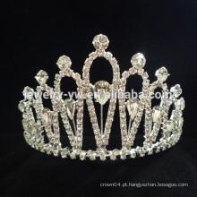Atacado acessórios de cabelo beleza cristal princesa coroa headband