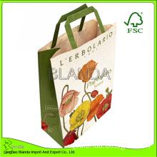 Paper Tote Bag with Soft Felt Cusom Design