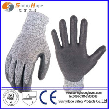 anti-cut level 5 PU coated cut-resistant safety gloves