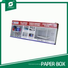 Caja de empaquetado impresa del tamaño grande para el estante de almacenamiento de arriba