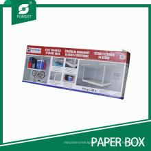 Tamanho grande caixa de embalagem de papel impressa para rack de armazenamento aéreo