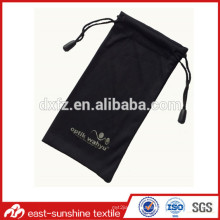microfiber cloth drawstring bags,drawstring microfiber cleaning cloth bag for eyeglasses with printed logo