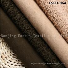 Plain Col Suede Bonded Faux Fur Esfh-07A