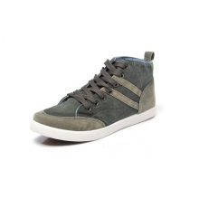 men shoee large size style canvas shoes with high ankle cut