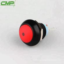 12mm CMP colorido plástico 1NO momentáneo o enclavamiento interruptor de botón iluminado