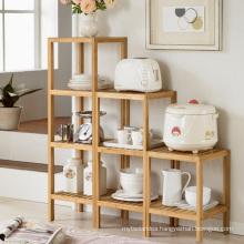 Bamboo Kitchen Storage Rack Shelf