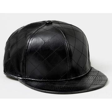 Custom Grain Leather Brim Snapback Hats