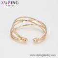 51857 vente chaude 20 grammes or plaqué 4 pcs / ensemble multi couche élégants bracelets