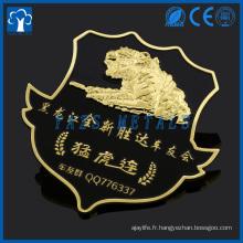 badge en métal personnalisé