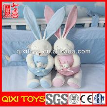 Haute qualité mignon cadeau lapin en peluche bébé jouets avec petit bébé lapin