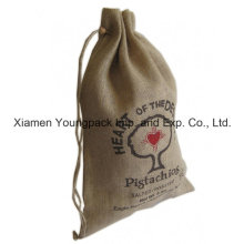Promotional Custom Large Natural Jute Drawstring Pouch