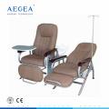 AG-AC006 sillas de PVC colchón de infusión reclinación sillas de hospital para pacientes