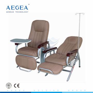 Cadeiras do hospital do ajuste do recliner da infusão do colchão do PVC AG-AC006 para pacientes