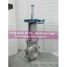 Stainless Steel Chainwheel Lug Knife Gate Valve