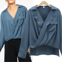 Spring new arrival design women fashion loog sleeves blouse ladies solid shirt women tops blouse 2019