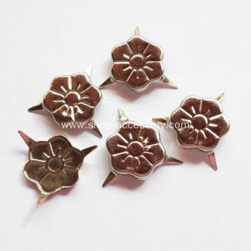3 Prongs Flower Shaped Nailheads for Fabric
