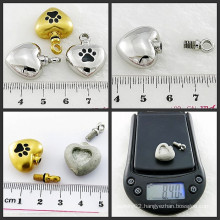 Urn Jewelry Pet Paw Pendant Stainless Steel Jewelry