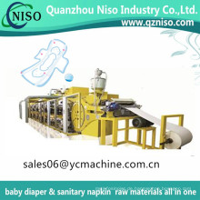 Halb automatische Wegwerforganische Baumwollmenstruations-Pad-Maschine und Damenbinde-Maschine