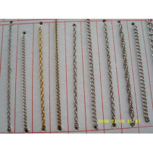 china chain supplier custom shiny design gold metal chain for football shoes