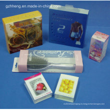 Caja plástica cosmética irrompible modificada para requisitos particulares del PVC (caja plegable)