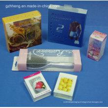 Boîte en plastique cosmétique incassable adaptée aux besoins du client de PVC (boîte pliante)