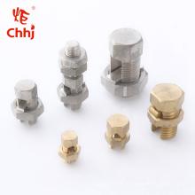 T / J laiton et cuivre Split Bolt Connecteur / Connecteur de robinet