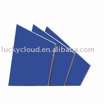 Panneau en plastique en aluminium de couleur commune