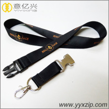 fashion printed lanyard with custom logo ribbon