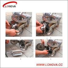 Vanne à air rotatif en acier inoxydable sanitaire