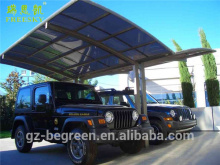Steel aluminum protective car shelter for sun rain cover