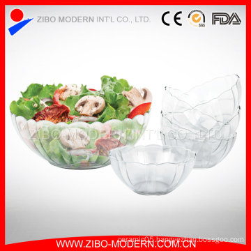 7PC Cheap Fancy Decorative Colored Glass Salad Bowl