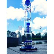 2016 Großhandel Bienenwabe Birdcage Glas Rauchen Wasser Rohr