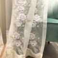 Luxury window screen embossed rope embroidery flower
