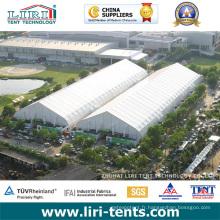 Grandes tentes extérieures d'événement de couverture de PVC de cadre en aluminium de toit de courbe pour le salon professionnel et l'exposition