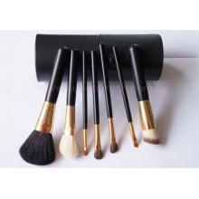 Cabelo da cabra 7pcs cosméticos kits de maquiagem escova com caso