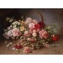 Pintura a óleo da flor da lona da alta qualidade