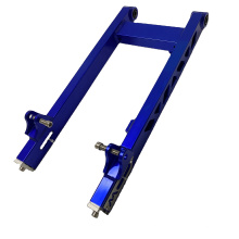 South American Style CNC modified aluminum adjustable motorcycle swing arm rear fork for CG125 / AX100 / C70
