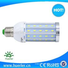 CE ROHS demostrado aluminio AC100-240V E27 12W bombilla de maíz LED 12V 24V DC