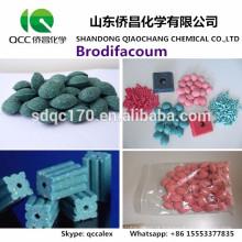 High-efficiency Rat killer Brodifacoum 98% TC 0,005% Cera de bloco 0,5% TKCAS 56073-10-0
