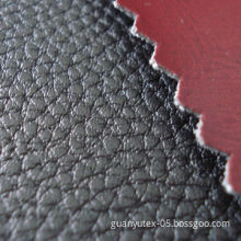 Embossed PU leather recycled fabric, fire retardant/oil-resistant