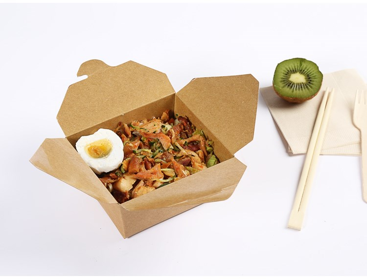 disposable kraft paper lunch box