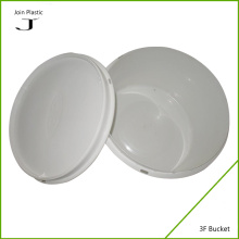 White recycled plastic bucket for liquid